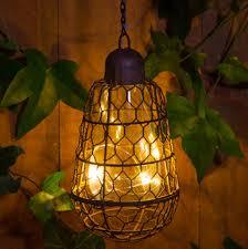 outdoor solar pendant bulb hanging light