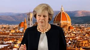 Image result for theresa may in florence