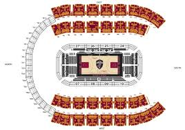 Cleveland Cavs Seating Chart Place Seat Numbers Online Charts Collection