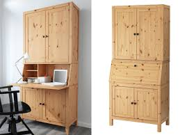the hemnes secretary cabinet is a good sized desk but a bit boring to look at