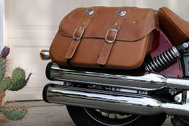 indian scout genuine leather saddlebags review