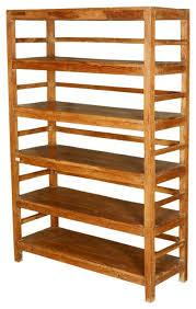 ... Nobby Design Freestanding Shelves Fresh Country Reclaimed Wood 5 Shelf  Bookcase Rustic ...