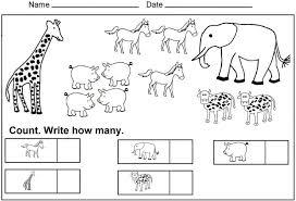 Math Worksheets Free Printablearten Match It Up For Kindergarten ...