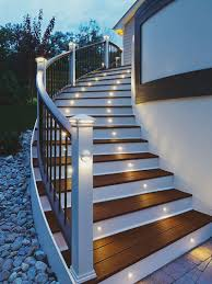 steps lighting. Natural Solar Stair Lights For Deck Steps Lighting N