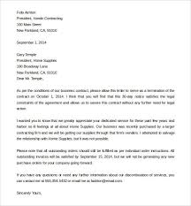Letter Of Dismissal Template How write a cancellation letter contract termination template 84