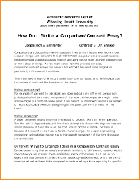 example compare contrast essay madrat co example compare contrast essay