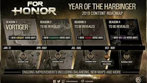 For Honor Gear Chart Season 3 For Honors Year 3 Content Roadmap Revealed