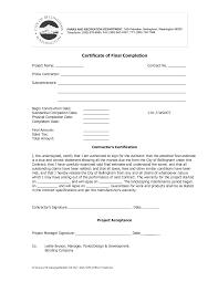 Job Completion Certificate Letter Good Copy Construction Work