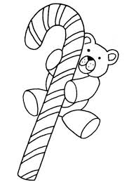 candy cane coloring pages and teddy bear