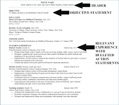 Employment Objective Or Cover Letter Career Objective For Fresh