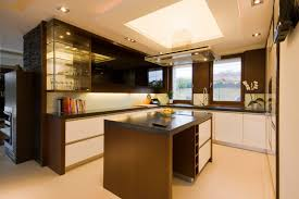 Kitchen Cabinets To Ceiling Modern Kitchen With Ceiling Lighting And Kitchen Cabinets Miserv