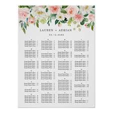 Wedding Alphabetical Seating Chart Alphabetical Order Wedding Seating Chart