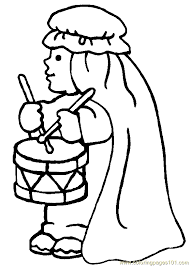 religious christmas coloring page 12