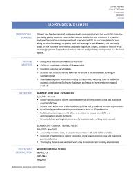 Sample Resume Barista Cool Coffee Shop Resume Sample For Collection Of Solutions Barista 9