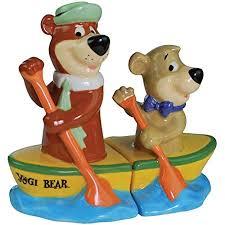 salt pepper shakers set yogi bear boo boo canoe new gifts 22603 amazon co uk toys games