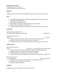 Simple Resume Sample Simple Resume Sample Skills Cover Letter Three Things 72