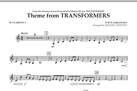 transformers sheet theme from transformers bb clarinet 1 sheet music at stantons