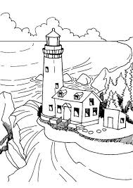 Small Picture Coloring page lighthouse img 7363