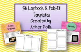 Editable Foldable Templates 36 Editable Lapbook And Fold It Templates By Amber Polk Tpt
