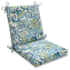 zoe mallard squared corners chair cushion tropical outdoor cushions and pillows by pillow perfect inc