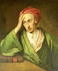 the works of alexander pope  portrait of alexander pope by sir godfrey kneller 1722 private collection