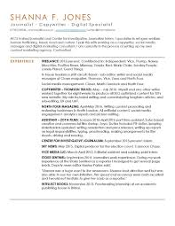 Brilliant Ideas Of Freelance Journalist Resume Sample Journalism