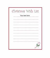 Blank Christmas List 43 Printable Christmas Wish List Templates Ideas