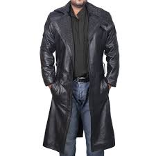blade runner black leather coat wiht fur lining