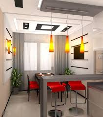 dining room table for narrow space. bar counted serves double as dining room tables for narrow space in a modern minimalist kitchen with orange pendant lighting fixtures table u