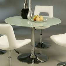 pastel furniture sun round dining table in frosted glass