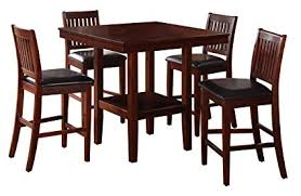Image Unavailable Amazon.com - Homelegance Galena 5-Piece Counter Height Dining Set