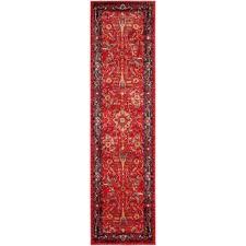 vintage hamadan orange navy 2 ft x 6 ft runner rug