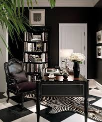 elegant office decor. black white office idea minus the zebra rug replace with a plain one instead elegant decor