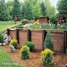 elegant design for diy retaining wall ideas how to build a treated wood retaining wall the family handyman