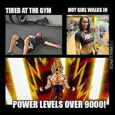 Hot Girl Walks Into The Gym Fitness Meme Facebook Wall Pic via Relatably.com