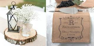 ... Rustic Burlap Wedding Decorations With White Flowers In Ribbon Glass  Jar Also Small Lantern On Rustic ...