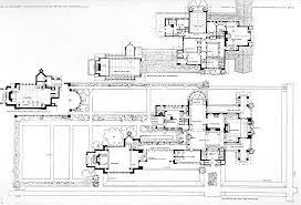 Apartments House Plans Frank Lloyd Wright Inspired New Prairie Frank Lloyd Wright Home And Studio Floor Plan