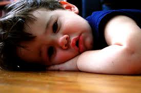 cute baby very sad