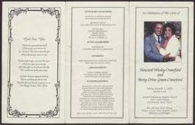 Funeral Program for Howard Wesley Crawford and Betty Orine Green Crawford,  March 1, 2002] - The Portal to Texas History