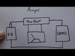 wiring dc ammeter (load meter) volt meter youtube Ammeter Wiring-Diagram at Amp Meter Shunt Wiring Diagram