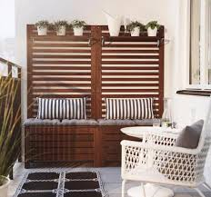 balcony furniture ideas. Use Multi-functional Furniture In Your Balcony. This Wooden Box Can Accommodate Accessories And Garden Tools Inside Additionally Will Serve As A Seat. Balcony Ideas F