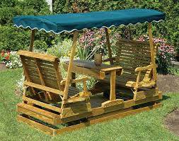 image of outdoor glider with canopy image of wood outdoor glider swing