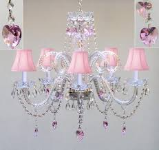 teenage bedroom lighting. Chandelier Lighting W/ Crystal Pink Shades \u0026 Hearts H25\ Teenage Bedroom
