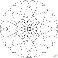 Coloriage Mandala Coeur Coloriages Imprimer Gratuits