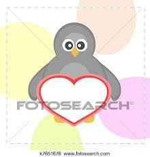 cute penguins in love drawings. Modren Love Cute Penguins Holding Love Heart Greeting Card Vector For Penguins In Love Drawings U