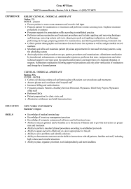 Medical Assitant Resume Clinical Medical Assistant Resume Samples Velvet Jobs 7