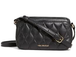 Vera Bradley Quilted Sydney Crossbody Bag in Black Leather Purse ... & Picture 1 of 6 ... Adamdwight.com