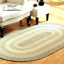 oval area rugs decoration 7 foot round braided rug lands end small wool chenille r kitchen