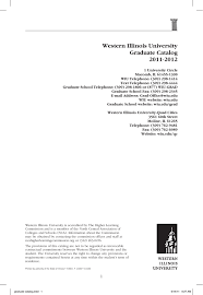 Iep Timeline Chart Illinois Western Illinois University Graduate Catalog 2011 2012