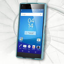 sony z5 compact. flexishield sony xperia z5 compact case - blue